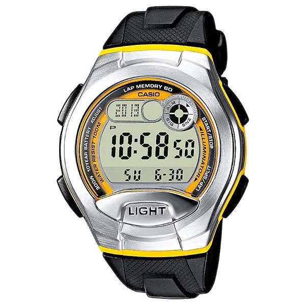 Электронные часы Casio Collection W-752-9b Black/Grey/Yellow