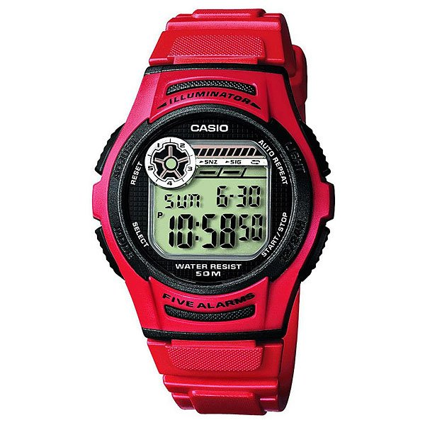 Электронные часы Casio Collection W-213-4a Red