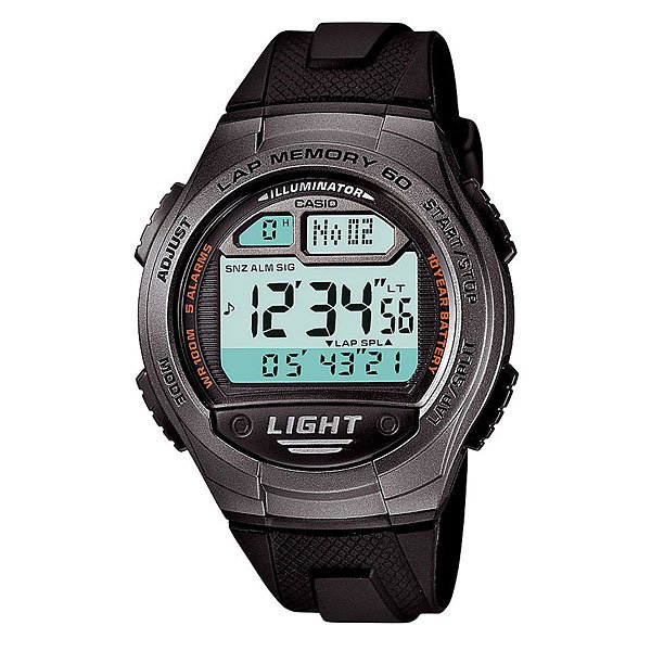 Электронные часы Casio Collection W-734-1a Black/Grey