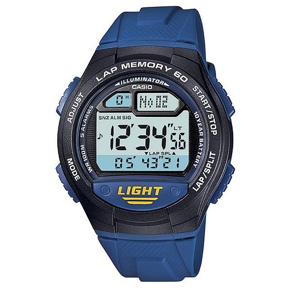 Электронные часы Casio Collection W-734-2a Blue/Black