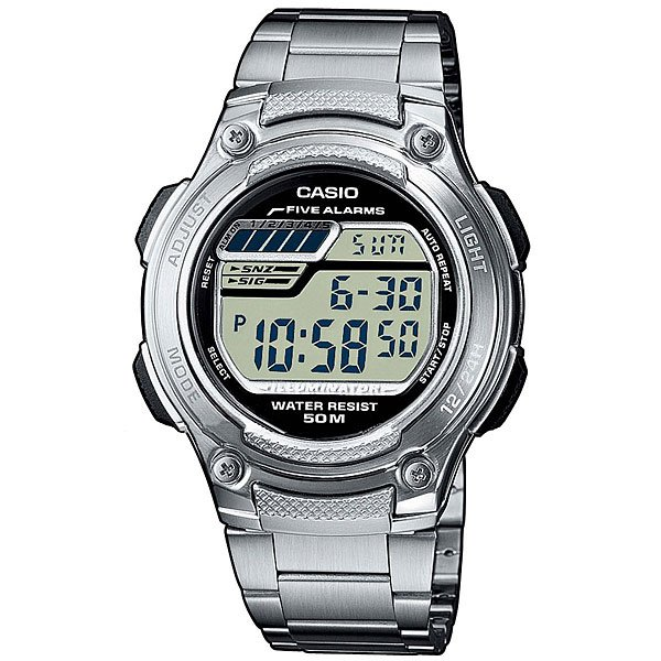 Электронные часы Casio Collection W-211d-1a Silver