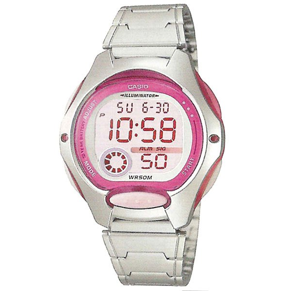 Электронные часы женские Casio Collection Lw-200d-4a Silver/Pink