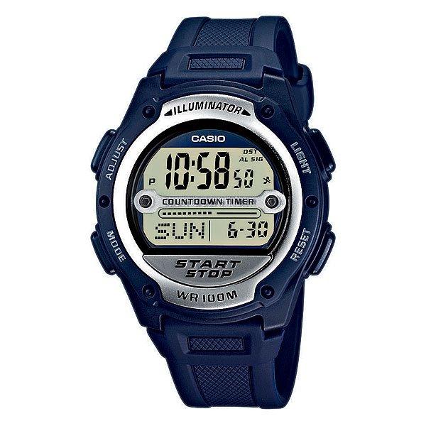 Электронные часы Casio Collection W-756-2a NavyОтличные функциональные часы с необходимым набором функций для спорта или активного отдыха.Технические характеристики: Светодиодная подсветка.Функция мирового времени.Секундомер судьи.Функция секундомера - 1/1 сек. - 100 мин.Таймер для измерения интервалов времени - используя эту функцию, можно установить до 9 таймеров обратного отсчета и установить последовательность их включения.Ежедневный будильник.Включение/выключение звука кнопок.Автоматический календарь.12/24-часовое отображение времени.Сферическое стекло - поверхность стекла часов является выпуклой. Это обеспечивает высокий уровень прочности и устойчивости к давлению.Корпус из полимерного пластика.Ремешок из полимерного материала.Продолжительное время работы аккумулятора - 10 лет.Водонепроницаемость (10 Бар) - до 100 метров.Точность  +/- 30 сек в месяц.<br><br>Цвет: синий<br>Тип: Электронные часы<br>Возраст: Взрослый<br>Пол: Мужской