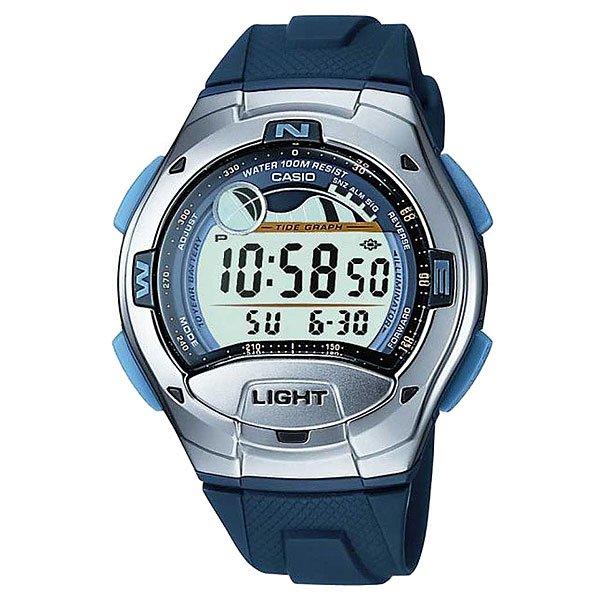 Электронные часы Casio Collection W-753-2a Grey/BlueСтильные и функциональные часы с расширенным набором функций для активного отдыха и спорта.Технические характеристики: Автоматическая светодиодная подсветка.Отображение данных о луне - на экране отображается фаза луны, исходя из Ваших текущих данных широты и долготы.Отображение графика приливов - графики приливов и отливов отображаются, исходя из Ваших текущих данных  широты и долготы, а также лунного промежутка.Сохранение направления - при нажатии на эту кнопку отображается значение направления в градусах. Если Вы расположите безель относительно этого значения, Вы с легкостью сможете определить Север, Восток, Юг и Запад на экране.Дополнительный циферблат мирового времени.Функция секундомера - 1/100 сек. - 100 часов.Яхт-таймер - идеальная функция для любой регаты и яхт-гонки: обратный отсчет с момента начала можно установить от 1 до 10 минут, обычно это значение равно 5 минутам. Звуковой сигнал будет звучать каждый раз по истечении минуты. Последние 10 секунд до старта звуковой сигнал будет звучать каждую секунду.Таймер - 1/1 мин. - 1 час (с автоматическим повтором).5 ежедневных будильников.Функция повтора будильника.Автоматический календарь.12/24-часовое отображение времени.Сферическое стекло - поверхность стекла часов является выпуклой. Это обеспечивает высокий уровень прочности и устойчивости к давлению.Корпус из нержавеющей стали и полимерного пластика.Ремешок из полимерного материала.Продолжительное время работы аккумулятора - 10 лет.Водонепроницаемость (10 Бар) - до 100 метров.Точность  +/- 30 сек в месяц.<br><br>Цвет: серый,синий<br>Тип: Электронные часы<br>Возраст: Взрослый<br>Пол: Мужской
