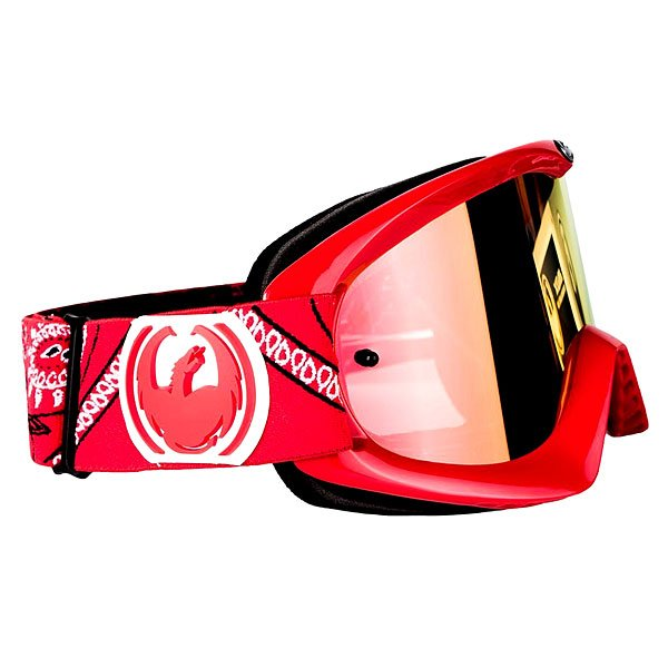 Маска для сноуборда Dragon Mdx Paisley Red Ionized/Clear Aft