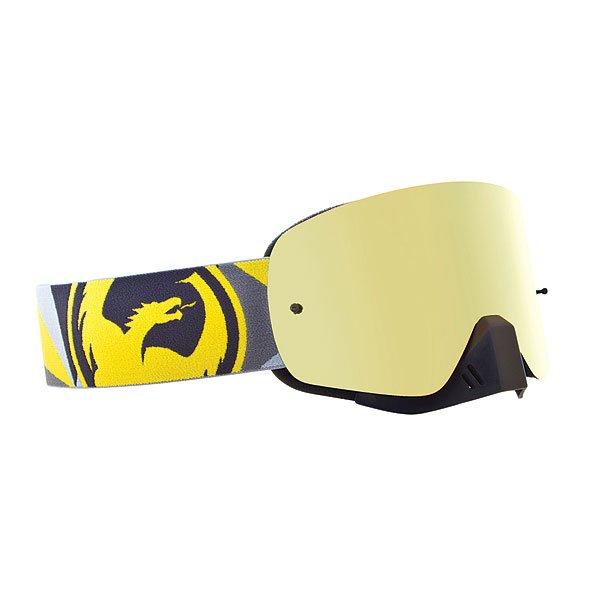 Маска для сноуборда Dragon Nfx Flair Yellow/Grey Gold Ionized /Clear