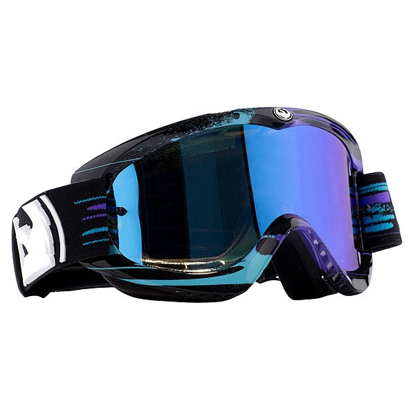 Маска для сноуборда Dragon Mdx Paint Drip Black Blue/Blue Steel/Clear Aft
