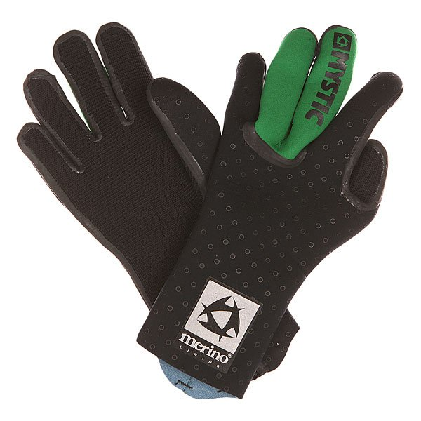 Перчатки (гидро) Mystic Merino Wool Glove Black