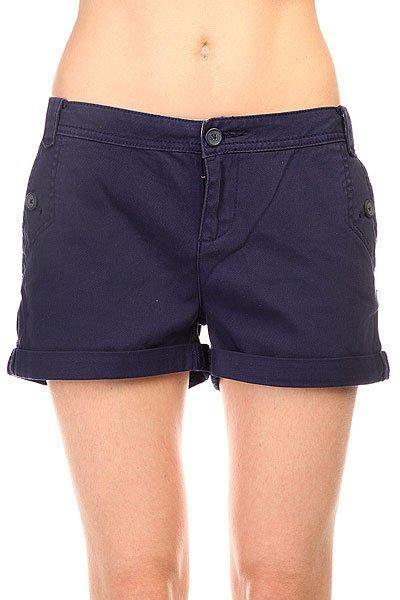 Шорты классические женские Zoo York Best Shorts Deep Cobalt<br><br>Цвет: синий<br>Тип: Шорты классические<br>Возраст: Взрослый<br>Пол: Женский