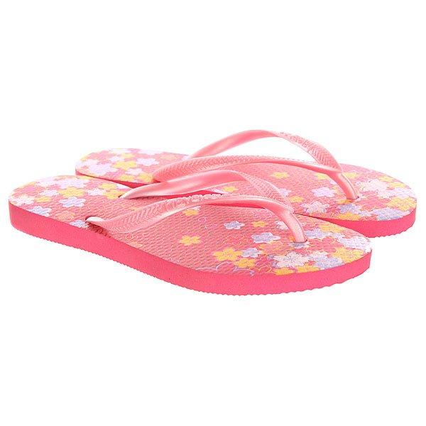 Вьетнамки детские Havaianas Slim Garden Pink/Yellow/Purple