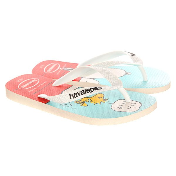 Вьетнамки Havaianas Snoopy White/Red/Light Blue