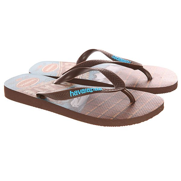 Вьетнамки Havaianas Teen Brown/Blue