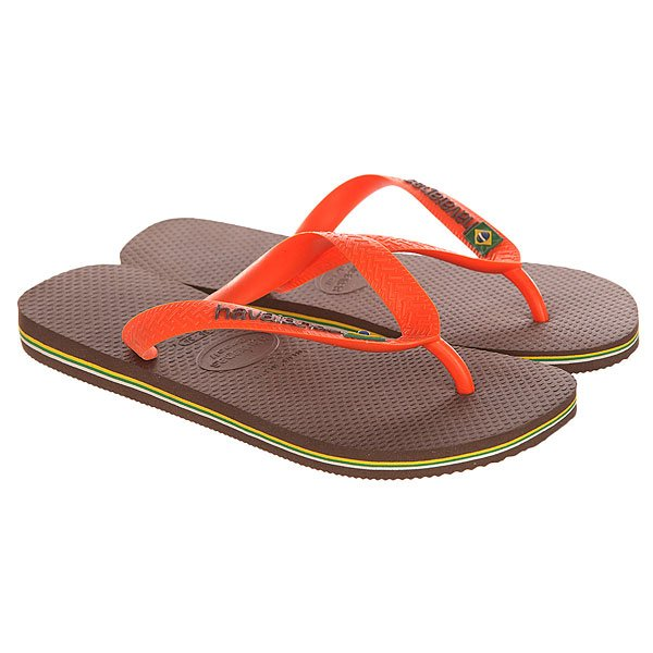 Вьетнамки Havaianas Brasil Logo Brown/Orange