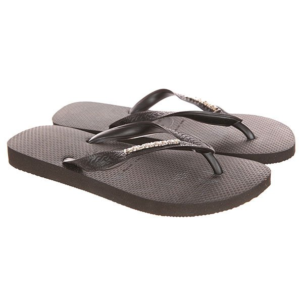 Вьетнамки Havaianas Top Logo Metallic Black/Silver