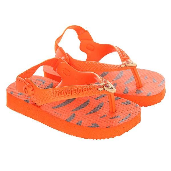 Шлепанцы детские Havaianas Disney Classics Orange/Black<br><br>Цвет: оранжевый,черный<br>Тип: Шлепанцы<br>Возраст: Детский