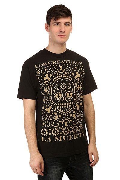 цены на Футболка Creature Creature La Muerte Black в интернет-магазинах