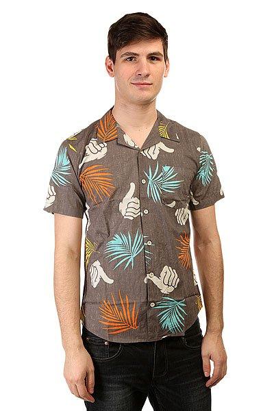 Рубашка Bro Style Tropic Print Shirt Charcoal<br><br>Цвет: серый<br>Тип: Рубашка<br>Возраст: Взрослый<br>Пол: Мужской