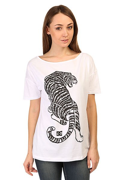 Футболка женская DC Tiger Attack Lo Tees White