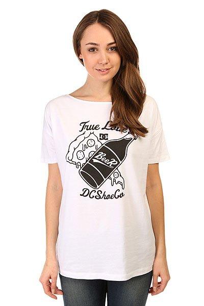 Футболка женская DC Tchonga Loose 2 Tees White<br><br>Цвет: белый<br>Тип: Футболка<br>Возраст: Взрослый<br>Пол: Женский