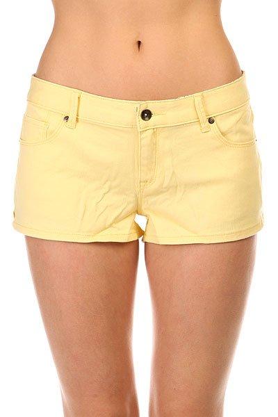 Шорты джинсовые женские Roxy Forever Colors Dnst Golden Haze<br><br>Цвет: желтый<br>Тип: Шорты джинсовые<br>Возраст: Взрослый<br>Пол: Женский