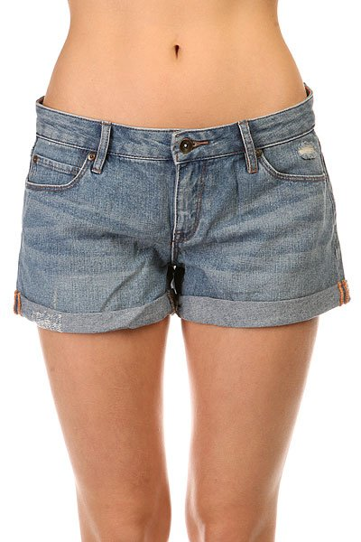 Шорты джинсовые женские Roxy Midtown Dnst Med Blue Wash<br><br>Цвет: синий<br>Тип: Шорты джинсовые<br>Возраст: Взрослый<br>Пол: Женский
