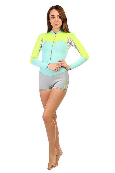 Гидрокостюм (Верх) женский Roxy Fog Blue/Glicer BlГидрокостюмы Roxy идеально соответствуют потребностям начинающих сёрферов. Это первая линейка гидрокостюмов начального уровня, целиком и полностью сшитая из материала Hyperstretch II, что делает их на 18% эластичнее любого другого базового костюма: полная свобода движений особенно важна для начинающих в любом виде активного досуга или спорта. Характеристики:Нагрудная панель усовершенствована за счет технологии HFT HeatingSystem ( Hollow Fiber Technology System ), которая обеспечивает дополнительную теплоизоляцию.Водонепроницаемость грудной молнии гарантирована специальной панелью Hydroshield. Длинный рукав. Высокий воротник.<br><br>Цвет: желтый,голубой,серый<br>Тип: Гидрокостюм (Верх)<br>Возраст: Взрослый<br>Пол: Женский