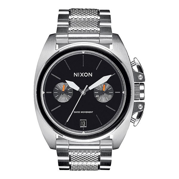 Кварцевые часы Nixon Anthem Chrono Silver/Black часы nixon corporal ss all black