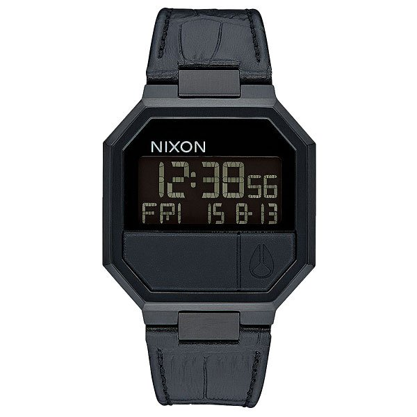 Электронные часы Nixon Re Run Leather Black Croc часы nixon corporal ss matte black industrial green