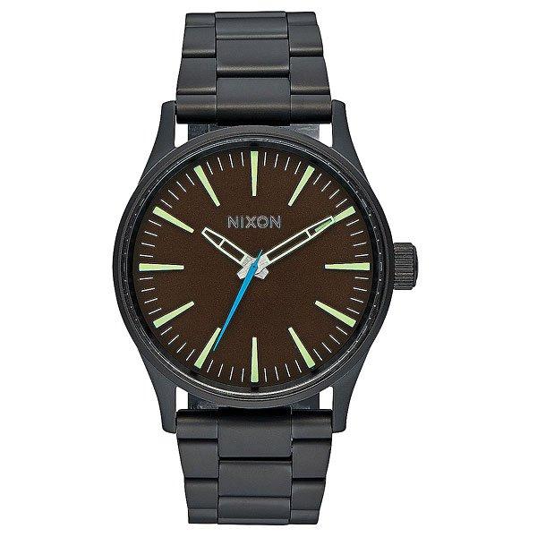 Кварцевые часы Nixon Sentry 38 Ss All Black/Brown кварцевые часы nixon sentry ss purple