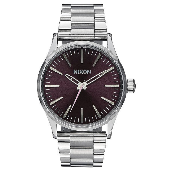 Кварцевые часы Nixon Sentry 38 Ss Plum/Grey часы nixon corporal ss matte black industrial green