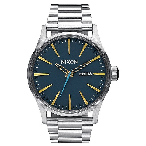 Кварцевые часы Nixon Sentry Ss Navy/Brass часы nixon corporal ss matte black industrial green