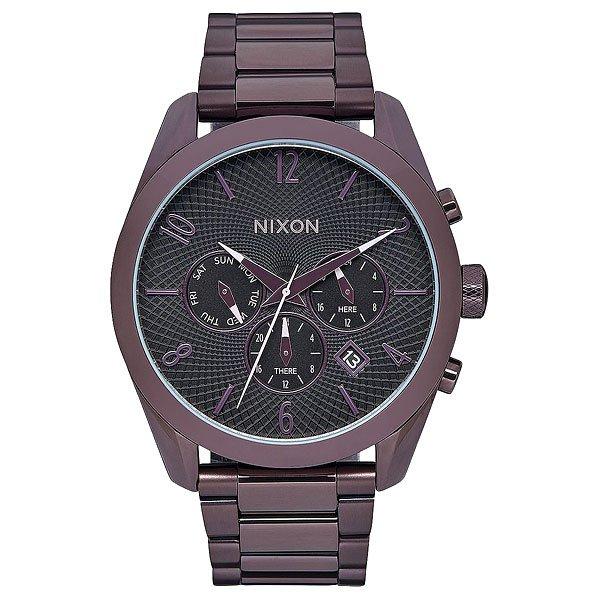 Кварцевые часы женские Nixon Bullet Chrono All Plum/Black