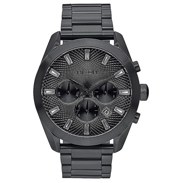 Кварцевые часы женские Nixon Bullet Chrono Crystal All Black часы nixon re run leather all black