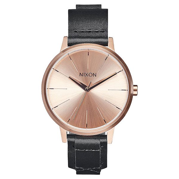 Кварцевые часы женские Nixon Kensington Leather Rose Gold/Bridle часы женские nixon kensington all white gold o s