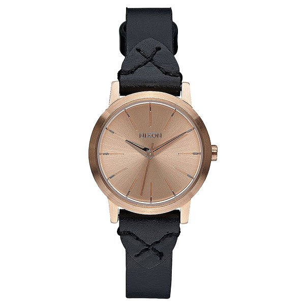 Кварцевые часы женские Nixon Kenzi Leather Rose Gold/Bridle