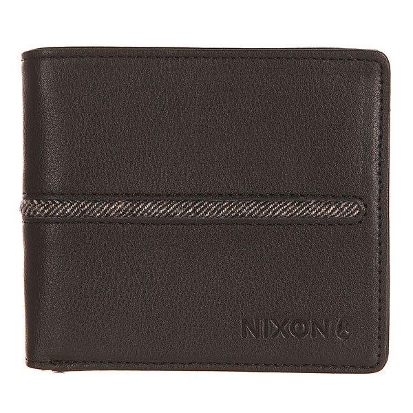 Кошелек Nixon Coastal Bi-Fold Zip Wallet Black<br><br>Цвет: черный<br>Тип: Кошелек<br>Возраст: Взрослый<br>Пол: Мужской