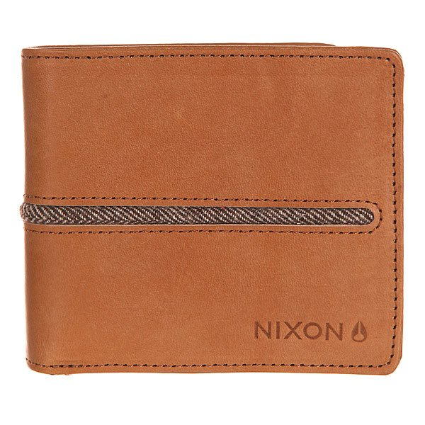 Кошелек Nixon Coastal Bi-Fold Zip Wallet Saddle