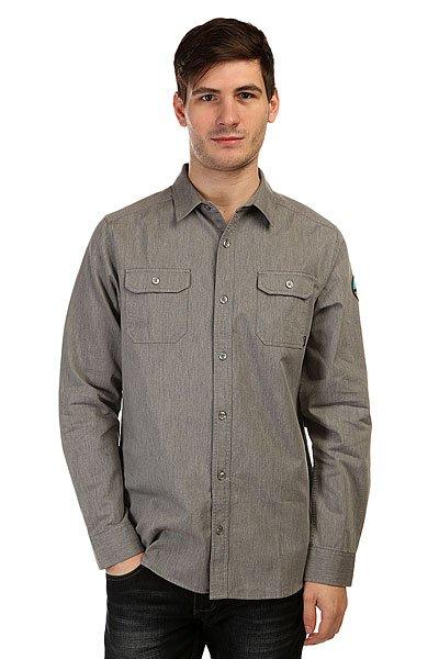 Рубашка Nixon Salinas Shirt Heather Gray<br><br>Цвет: серый<br>Тип: Рубашка<br>Возраст: Взрослый<br>Пол: Мужской