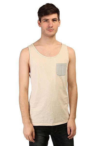 Майка Quiksilver Baysick Tank Kttp Snow White Heather
