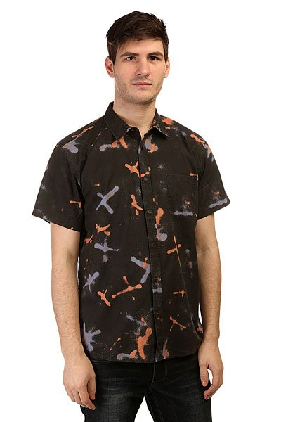 Рубашка Quiksilver Markings Shirts Wvtp Markings Vl Tarmac<br><br>Цвет: черный<br>Тип: Рубашка<br>Возраст: Взрослый<br>Пол: Мужской