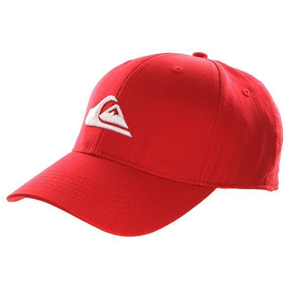 Бейсболка классическая Quiksilver Decades Quik Red<br><br>Цвет: красный<br>Тип: Бейсболка классическая<br>Возраст: Взрослый<br>Пол: Мужской