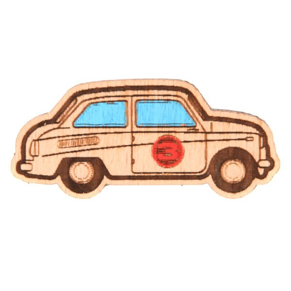Значок Запорожец Х Waf-waf Машинка Biege<br><br>Цвет: бежевый<br>Тип: Значок