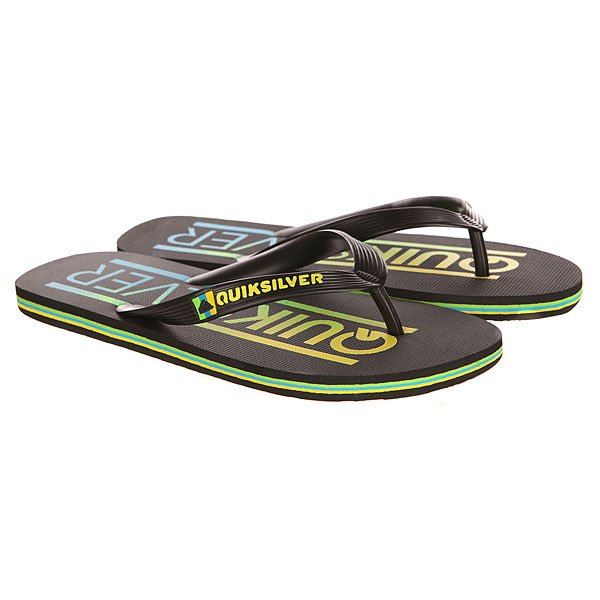 Вьетнамки Quiksilver Molokai Wordmar Sndl Black/Yellow