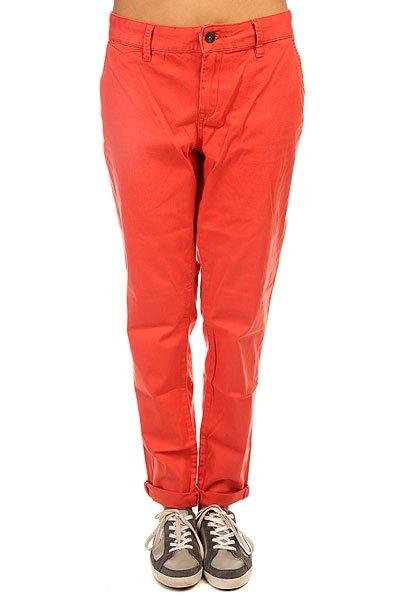 Штаны прямые женские Roxy Sunkissers J Pant ChiliЖенские прямые штаны в однотонном ярком дизайне от ROXY.Технические характеристики: Мягкая саржа.Легкая обработка «под винтаж».Карманы для рук.Задние карманы.Петли для ремня с контрастной петлей.Кожаный ярлычок с логотипом Roxy.<br><br>Цвет: красный<br>Тип: Штаны прямые<br>Возраст: Взрослый<br>Пол: Женский