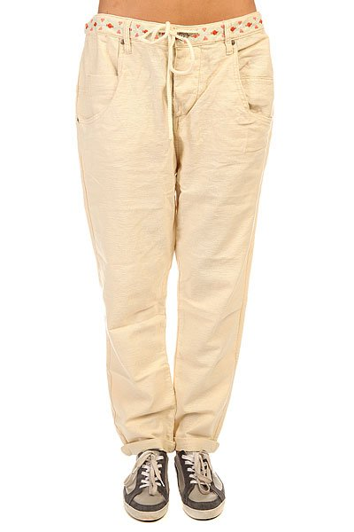 Штаны широкие женские Roxy Harmonize J Pant Bleached Sand штаны широкие женские insight last avenue pant poppy