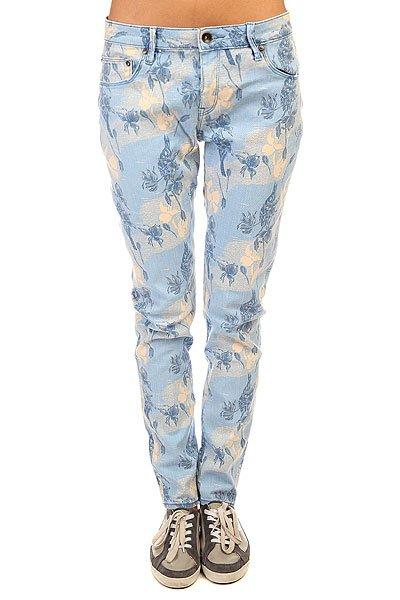 Джинсы узкие женские Roxy Suntrippers J Pant Small Vintage HeritaСлегка укороченные женские джинсы от ROXY с цветочным принтом в винтажном стиле.Технические характеристики: Слегка укороченная модель.Декоративная молния в нижней части штанин.Карманы для рук.Карман для мелочи.Задние карманы.Петли для ремня.Кожаный ярлычок с логотипом Roxy.<br><br>Цвет: голубой<br>Тип: Джинсы узкие<br>Возраст: Взрослый<br>Пол: Женский