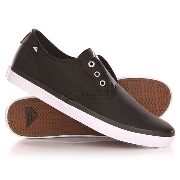 Кеды кроссовки низкие Quiksilver Shorebreak Nylo Shoe Black/White