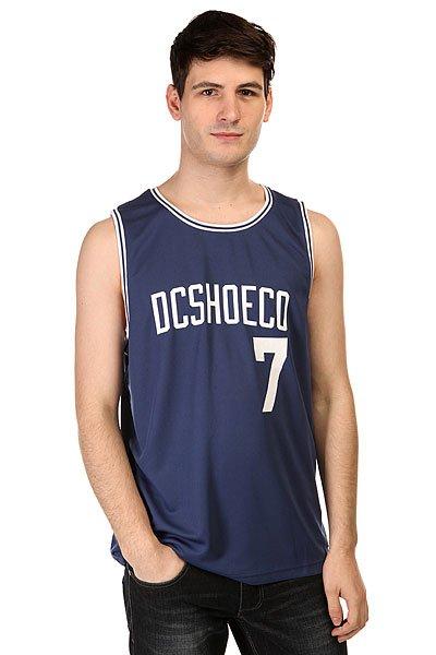 Майка DC Basketball Tank Kttp Vintage Indigo<br><br>Цвет: синий<br>Тип: Майка<br>Возраст: Взрослый<br>Пол: Мужской
