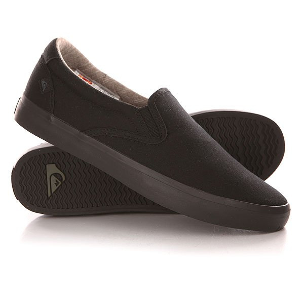 Слипоны Quiksilver Shorebreak Slip Shoe Solid Black