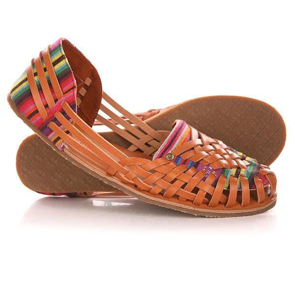 Сандалии женские Roxy Meri J Shoe Brown<br><br>Цвет: коричневый,мультиколор<br>Тип: Сандалии<br>Возраст: Взрослый<br>Пол: Женский